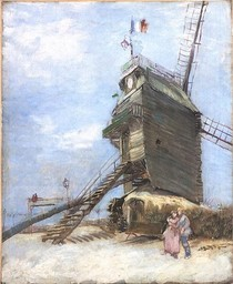 Vincent Willem van Gogh - Le Moulin de la Galette--Blue