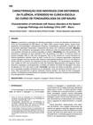 CARACTERIZAÇÃO DOS INDIVÍDUOS COM DISTÚRBIOS DA FLUÊNCIA  ATENDIDOS NA CLÍNICA-ESCOLA DO CURSO DE FONOAUDIOLOGIA DA USP-BAURU