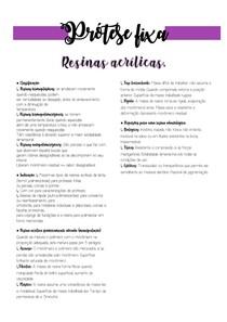 Resinas Acrilicas - Prótese