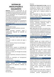 SISTEMA DE PREOCUPAÇÕES E ISOLAMENTO