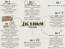 Lei 8080/90 até art 7 - mapa mental