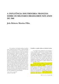 A INFLUÊNCIA DOUTRINÁRIA FRANCESA