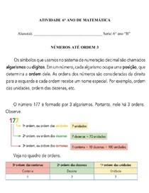 NÚMEROS ATÉ ORDEM 3