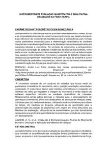 INSTRUMENTOS DE AVALIAÇÃO QUALITATIVA E QUANTITATIVA