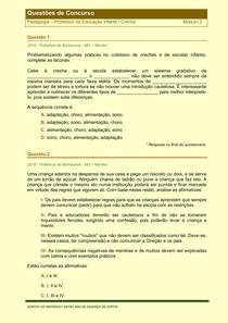Pedagogia - Questões de Concursos Publicos - Modulo 2