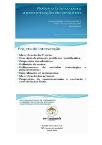 01 -MODELO DE PROJETO DE INTERVENÇÃO