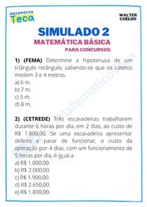 Simulado 2 - Matemática Básica para Concursos