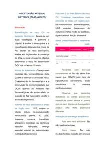 HIPERTENSÃO ARTERIAL SISTÊMICA (Tratamento)