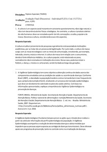 Avaliação III (Discursiva) - Tópicos Especiais