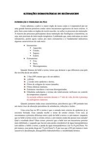 ALTERAÇÕES DERMATOLÓGICAS DO RN