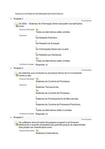 TELEAULA 2 SISTEMAS DE INFORMAÇÃO NO SETOR PÚBLICO