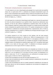 Analise Termica   Lista Exercícios 02