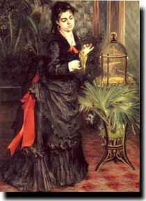 Renoir - Woman with a Parrot