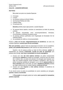 AULA 02- Juizados Especiais - Curso Estágio TJMG