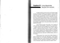 Atual Agenda das Relações Internacionais cap. IV   O estudo das Relações Internacionais