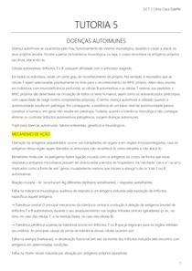 TUTORIA 5 UNIDADE 5 - Doenças Autoimunes