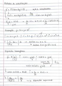 Cálculo 3 - Métodos de substituição e Equações homogêneas - Equações Separáveis
