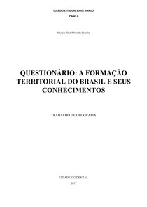Questionário de Geografia