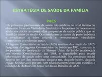 Estretegia S Familia e Política Nacional Atenção Básica NASF