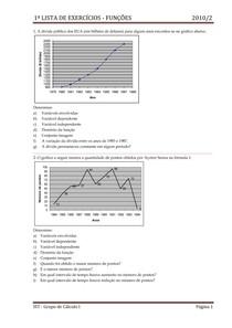 Exercícios de funções (introdução ao cálculo)