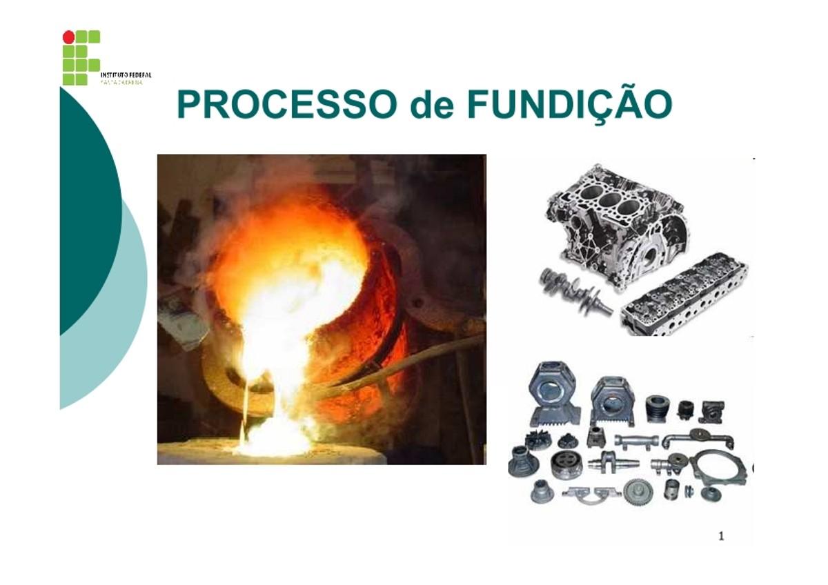 Pre-visualização do material Aula 2 Processo de Fundicao - página 1