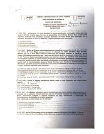 lista de questões de residência 2021-> ANTIBIÓTICOS