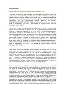 jurisprudencia Excludentes De Responsabilidade Civil