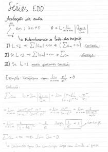 Séries EDO - Parte 7. Assuntos: Teste da Razão para séries, exercícios resolvidos de sequências de séries, Prova do teste da razão, Teorema teste da raíz, Teorema teste da integral , Use o teste da in