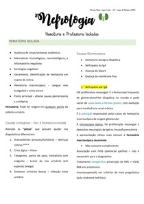 HEMATÚRIA E PROTEINÚRIA ISOLADA