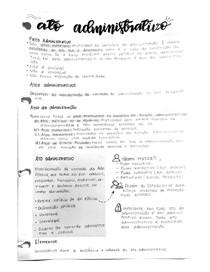 Anotações sobre atos administrativos - Resumo