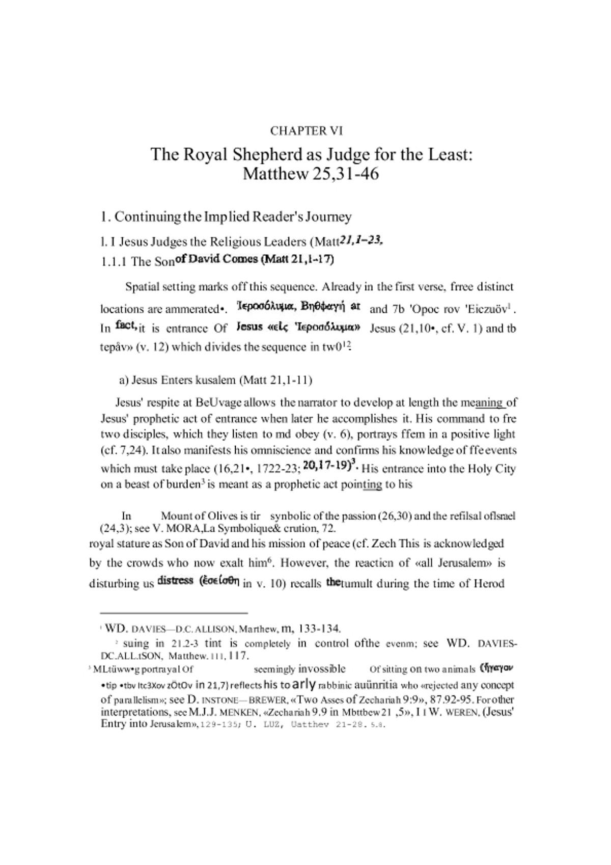 Pre-visualização do material A Portrayal of Jesus in the Gospel of Matthew _ A Narrative-Critical and Theological Study - página 1