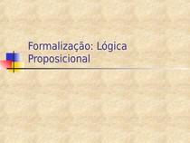 Formalização: Lógica Proposicional