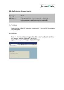 04 - OX14 - Definir area de valorização