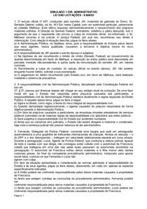 Dir Adiministrativo - Exercicios do Programa do  MPE