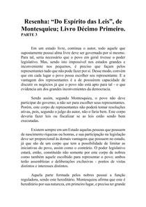 Resenha - Do Espírito das Leis - Montesquieu - Livro XI (parte 3)