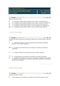 AVALIANDO CICLO I - DIREITO PROCESSUAL CIVIL - 2019 2