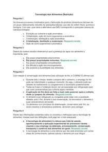 Avaliação On-Line 1 (AOL 1) - Questionário