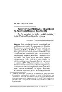 Juscorporativismo: os juízes e o judiciário na Assembleia Nacional Constituinte