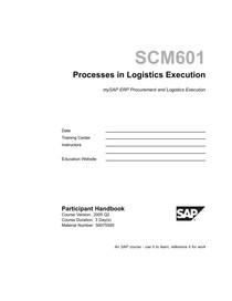 SCM601 Processes in Logistics Execution - Consultoria - 17