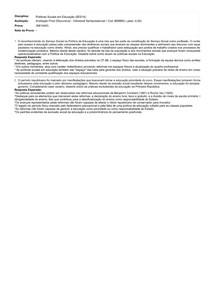 Politicas Sociais em Educação - Avaliação Fianl (Discursiva)