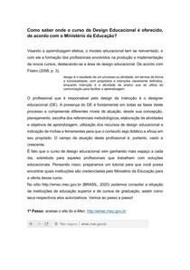Oferta design instrucional e-mec