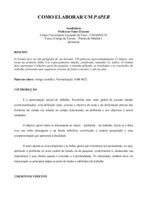Modelo Paper Uniasselvi
