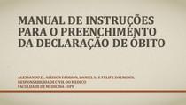 Manual de Preenchimento de Declaração de Óbito
