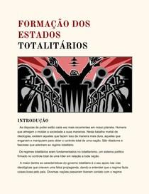 Formação dos Estados Totalitarios