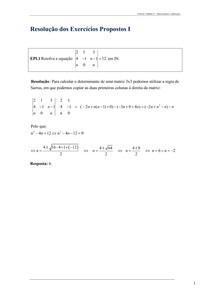 Determinantes e Aplicações (Res)