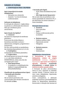 Dislipidemias - Estratificação de risco