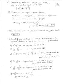 Lista 3 - Vetores e Geometria Analitica  - Univap