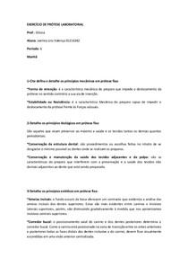 EXERCÍCIO DE PRÓTESE II
