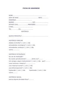 Modelo De Ficha De Anamnese Farmacia Clinica