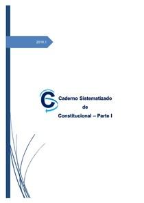 Direito CONSTITUCIONAL   PARTE I   2018.1